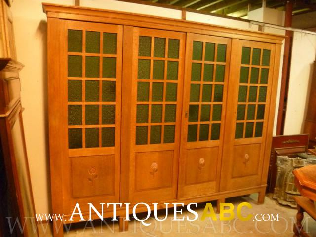 4 Doors Oak Library Cabinet
